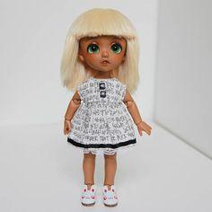 Lati yellow 5-6 wig blond straight with bang handmade
