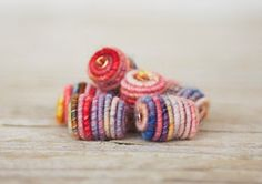 Hey, I found this really awesome Etsy listing at https://www.etsy.com/listing/187165745/handmade-fabric-textile-beads-for