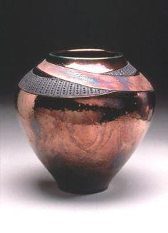 Raku Pottery Glazes   Vase- RRR Pottery