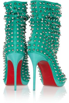Christian LouboutinGuerilla 120 studded suede ankle bootsback