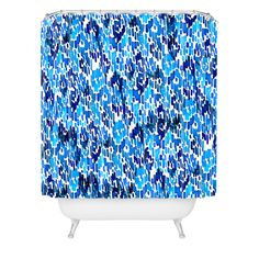 CayenaBlanca Blue Ikat Shower Curtain | DENY Designs Home Accessories