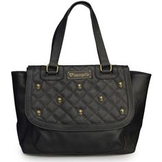 Women's Black Quilted Skull Studs Bag by Loungefly (Black) $64.95