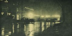 Alfred Stieglitz. The Glow of Night — New York, 1897
