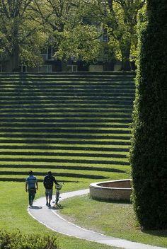 Wow! Grønne trapper ved Universitetet i Aarhus.