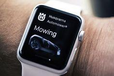 Savez-vous qu'Husqvarna a développé la toute première application pour robots tondeuses sur Apple Watch™ réservée aux hyper-connectés qui n'en peuvent plus des corvées de tonte du gazon ?