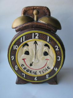"""Cookie Time"" Clock Cookie Jar"