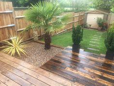 Gravel delivered Lost Garden, Amazing Gardens, Sidewalk, Deck, Outdoor Decor, Plants, Side Walkway, Front Porches, Walkway