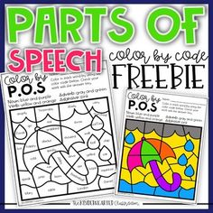 This is a simple print and go Parts of Speech Color by Code Freebie that includes an answer key! This will give you an idea of the quality of my work! Let's Connect! Instagram Facebook YouTube ... Parts Of Speech Practice, Parts Of Speech Activities, 4th Grade Activities, Early Finishers Activities, Grammar Activities, Writing Activities, 2nd Grade Grammar, 4th Grade Ela, 3rd Grade Writing
