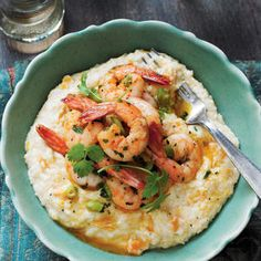 Creole Shrimp and Sweet Potato Grits - Fresh Fall Dinner Recipes - Southern Living - Add a little sweetness and a big superfood boost to your traditional shrimp and grits. Recipe: Creole Shrimp and Sweet Potato Grits See More: Sweet Potato Recipes Best Shrimp And Grits Recipe, Shrimp N Grits, Shrimp Recipes, Low Country Shrimp And Grits Recipe, Cajun Recipes, Southern Dishes, Southern Recipes, Southern Food, Southern Grits