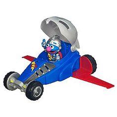 Hasbro -PLAYSKOOL SESAME STREET Super Grover 2.0 & Vehicle ...