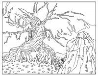 Display image Sleepy-Hollow-Adult-Coloring-Book-Page