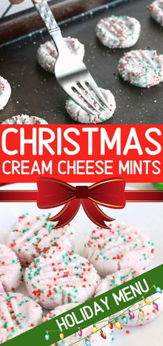 Cream cheese mints are a fantastic no bake alternative for a quick and fun appetizer or dessert that everyone loves. And these super festive Christmas Cream cheese mints are so easy to make that they can be whipped up and ready to serve in 30 minutes Holiday Treats, Holiday Recipes, Dinner Recipes, Snacks Recipes, Easy Christmas Treats, Easy Christmas Baking Recipes, Christmas Dessert Recipes, Christmas Goodies, Christmas Candy Crafts