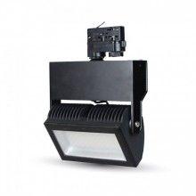 48W 3-fase Led skinnespot med projektør - Sort
