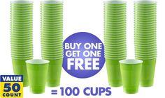 Kiwi Green Tableware - Kiwi Party Supplies - Party City