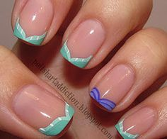 The Little Mermaid french manicure?! HOW CUTE IS THIS. I have to try this.