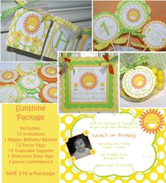You are My Sunshine Little Miss Sunshine by ThePartyPaperFairy, $76.00