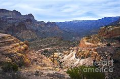 Long and Winding Apache Trail - photograph by Lee Craig  via @leeseesart #ApacheTrail #Arizona #travel #photography