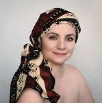 Expresso Yourself Turban, Chemo Hat (One Piece Wrap), brown & black turban,  chemo turban, Alopecia scarf, chemo hat