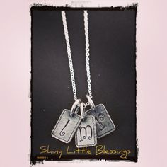 Initial Necklace, Initial Charm, Initial Pendant 925 Sterling Silver Jewelry by Shiny Little Blessings.