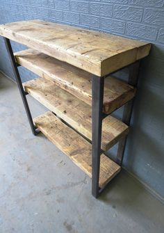 Industrial Chic Reclaimed Custom Bookcase Shelving Unit DVD