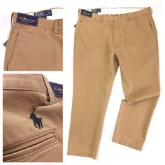 Ralph Lauren Suffield Pants W40/30L Khaki Classic Fit Men's Chinos Trousers  | eBay