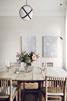 Dinner table decoration by J. Scandinavian Interior Design, Scandinavian Living, Farrow Ball, Dining Area, Dining Table, Dining Rooms, Turbulence Deco, Interior Photography, My New Room