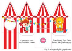 circus tinker with children - tinker with children - Carnival Party Favors, Circus Party Supplies, Circus Party Decorations, Carnival Themed Party, Circus Theme, Party Themes, Carnival Baby Showers, Kids Carnival, Carnival Themes
