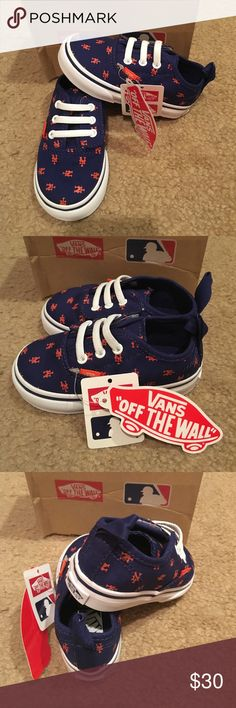 fb2c33b9fe9c Authentic V Lace MLB New York Mets Vans New in box. Blue Vans Shoes Sneakers