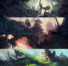 Color Key Environments, Luca Pisanu on ArtStation at https://www.artstation.com/artwork/14qrX
