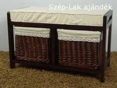 2-es tároló ülőkével sötétbarna kosárral ( VI DESH 92395921039) - SZÉP-LAK ajándék, lakberendezés - webáruház, webshop