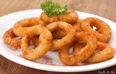 Anéis Temperados de Cebola - Onion rings - Receita do Dia