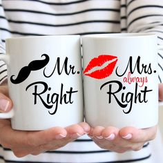 Mr. & Mrs. Right ! #kubek #always #right #cup #mug #couple