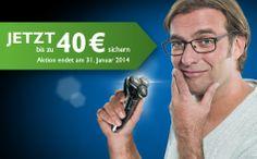 SensoTouch - Jetzt kaufen zahlt sich aus! Philips Geld-zurück-Aktion beim Kauf von SensoTouch Rasierern: Kaufen Sie einen der teilnehmenden SensoTouch Rasierern und erhalten Sie bis zu 40 Euro zurück erstattet. Die Aktion endet am 31. Januar 2014.