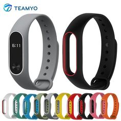 [Visit to Buy] Xiaomi Mi Band 2 Strap For Mi Band 2 Silicone Strap Bracelet Replacement Wristband Smart Band Accessories Colorful wrist Strap #Advertisement