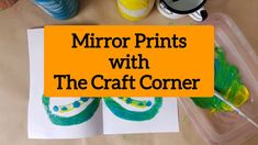 This project is great for any age group, but the little ones love it. Making mirror prints, all you need is paper, paint and a paint brush Mirror Painting, Craft Corner, Mirror Image, Paint Brushes, Kids House, All You Need Is, First Love, Creativity, Group
