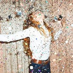Not only do I love glitter, but this symbolized how I am the life of the party!