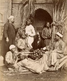Life along the Nile in Victorian times. A glimpse of a vanishing Egypt....but wait, that 1st guy just might be JJ Walker lol