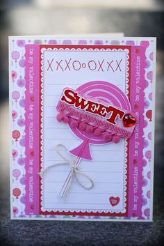 Sweet Card, by Dianedi Kids Cards, Diy For Kids, Stamping, Card Ideas, Valentines Day, Projects To Try, Card Making, Scrapbooking, Diy Crafts