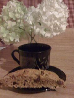 Jewish - Old Family Secret Recipe - Chocolate Chip Mandel Bread  from Food.com:   Great with coffee/tea. Not too sweet.