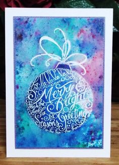Stampendous CRP309 Merry Ornament with Cosmic Shimmer Pixie Powders