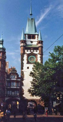 Freiburg Germany, entry point to the Black Forrest