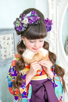 10-1(おぼろづきよ) Rite Of Passage, Yukata, Studio Portraits, Infants, Japanese Girl, Children, Kids, Kimono, Kawaii