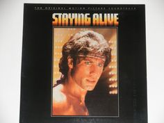 """Staying Alive - Original Motion Picture Soundtrack - The Bee Gees - """"Breakout"""" - RSO Records 1983 - Vintage Gatefold Vinyl LP Record Album"""