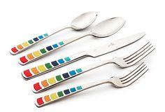 Color block flatware