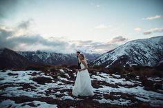 Maggie and Nate Photo: Andrew Hewson Mount Rainier, Mount Everest, Wedding, Valentines Day Weddings, Weddings, Marriage, Chartreuse Wedding