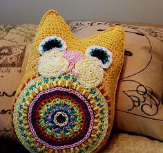 Ravelry: Fat Cat Pillow Toy Amigurumi pattern by Kim Boardman