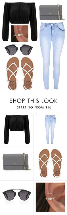 """""""Lunch with bæ"""" by maryg1999 on Polyvore featuring Glamorous, DKNY, Billabong and Christian Dior"""