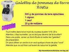 Recette de Röstis au companion moulinex (galette de pommes de terre)