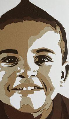 Cardboard portrait Isaac
