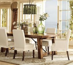 [ Centerpieces Dining Room Table Unique Dining Room Table Decoration Dining Table Dining Table Decor Furniture ] - Best Free Home Design Idea & Inspiration Country Dining Rooms, Modern Dining Room Tables, Beautiful Dining Rooms, Dining Room Design, Dining Room Chairs, Dining Room Furniture, Dining Area, Small Dining, Furniture Design